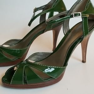 Ann Taylor Millie Patent Leather Heels, Size 8.5M